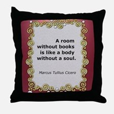 A room without books Throw Pillow