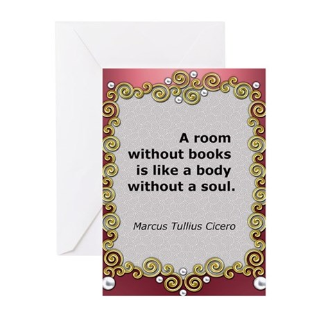 A room without books Greeting Cards (Pk of 10)