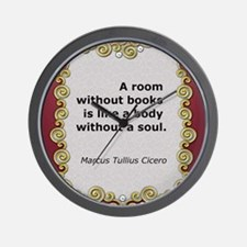 A room without books Wall Clock