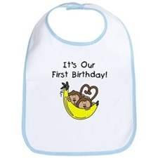 Twin Boys 1st Birthday Bib