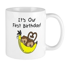 Twin Boys 1st Birthday Mug