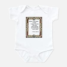 His books were read Infant Bodysuit
