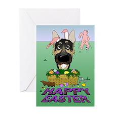German Shepherd Easter Greeting Card