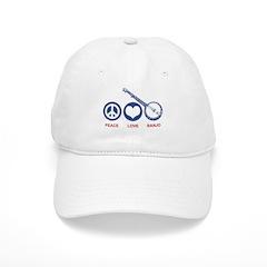 Peace Love Banjo Baseball Cap