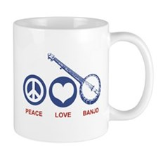 Peace Love Banjo Mug