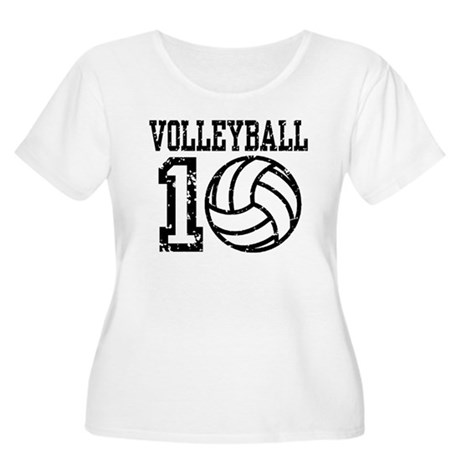 Volleyball 2010 Women's Plus Size Scoop Neck T-Shi