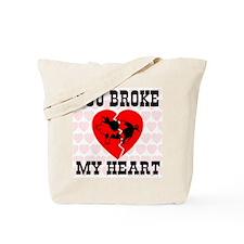You Broke My Heart Pig Tote Bag