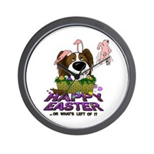 Papillon Happy Easter Wall Clock