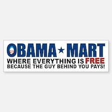 Obama Mart Bumper Bumper Sticker