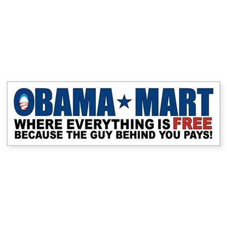 Obama Mart Sticker (Bumper)