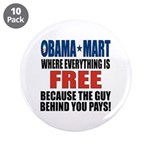 """Obama Mart 3.5"""" Button (10 pack)"""