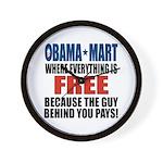 Obama Mart Wall Clock