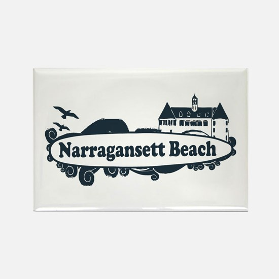Narragansett RI - Surf Design Rectangle Magnet