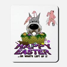 Schnauzer Happy Easter Mousepad