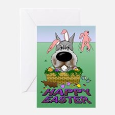 Schnauzer Happy Easter Greeting Card