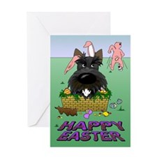 Scottie Happy Easter Greeting Card