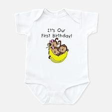 Triplets 1st Birthday Infant Bodysuit