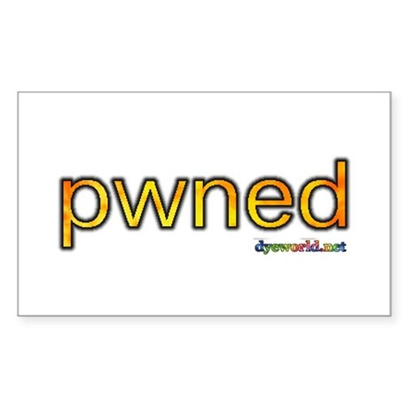 pwned Sticker (Rectangle 10 pk)