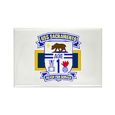 USS Sacramento AOE -1 Rectangle Magnet