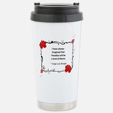 Paradise Library Stainless Steel Travel Mug