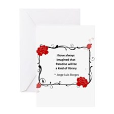Paradise Library Greeting Card