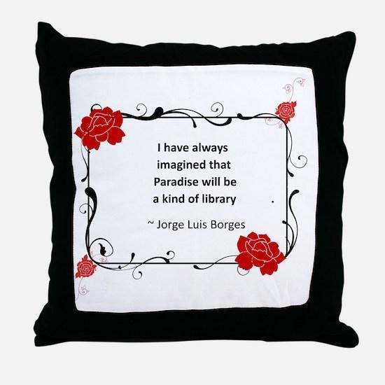 Paradise Library Throw Pillow