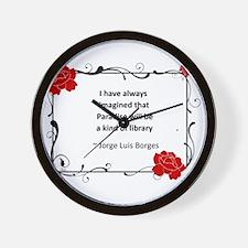 Paradise Library Wall Clock
