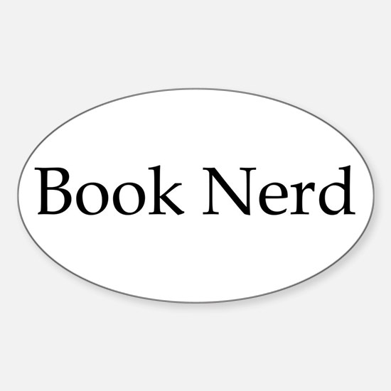 Book Nerd Sticker (Oval)