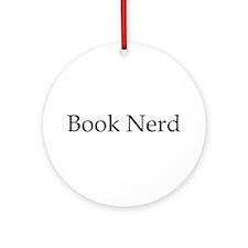 Book Nerd Ornament (Round)