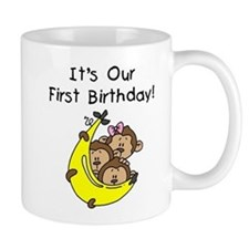 Triplets 1st Birthday Mug