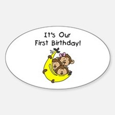 Triplets 1st Birthday Decal