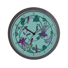 Floral Circle Wall Clock