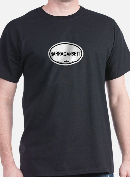 Narragansett RI Oval Design T-Shirt