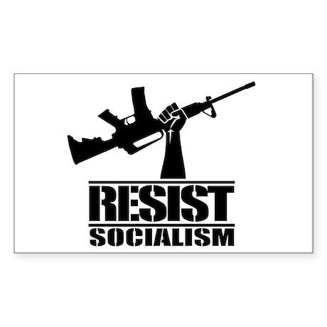 RESIST SOCIALISM Sticker (Rectangle)