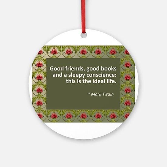 Good Friends, Good Books Ornament (Round)