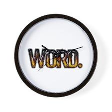 Word. Wall Clock