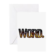 Word. Greeting Card