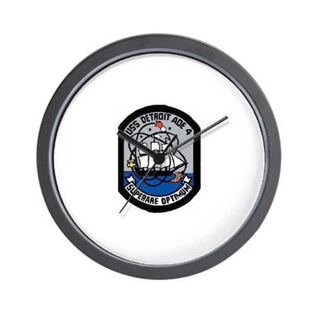USS Detroit AOE 4 Wall Clock