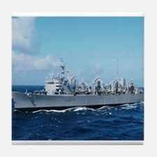USS Detroit Ship's Image Tile Coaster