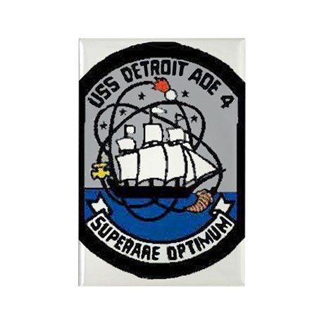 USS Detroit AOE 4 Rectangle Magnet