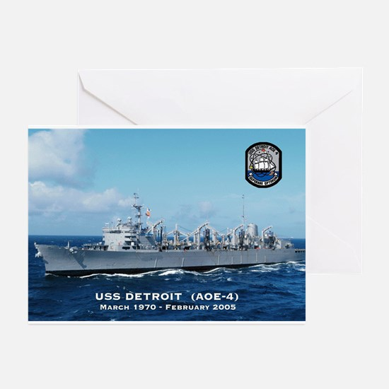 USS Detroit Ship's Image Greeting Cards (Pk of 10)