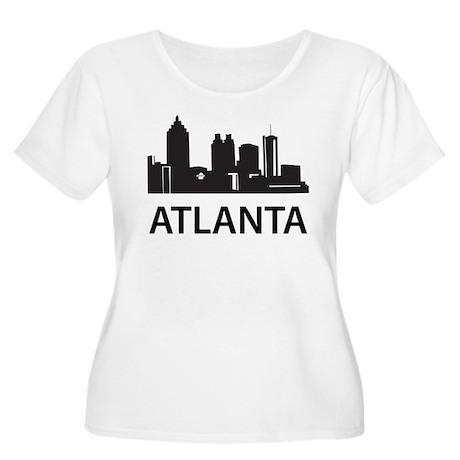 Atlanta Skyline Women's Plus Size Scoop Neck T-Shi