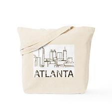 Vintage Atlanta Tote Bag