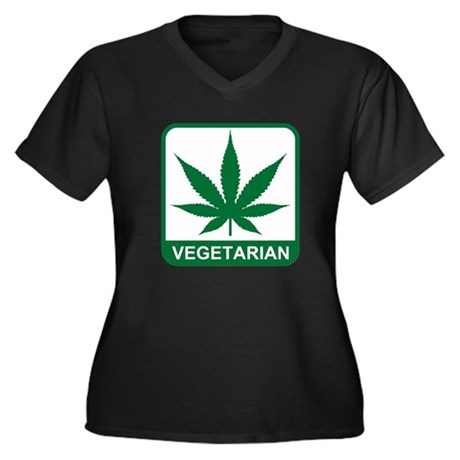 Proud To Be A Vegetarian Women's Plus Size V-Neck