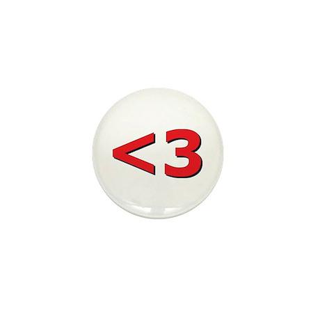 Less than 3 Mini Button