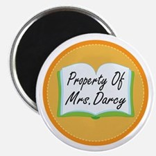 Colorful Property Of Mrs Darcy Magnet