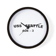 USS Seattle AOE 3 Wall Clock