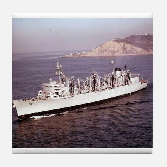 USS Seattle Ship's Image Tile Coaster