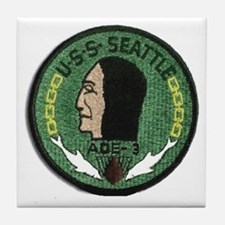 USS Seattle AOE 3 Tile Coaster