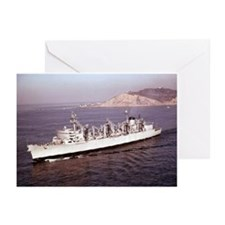 USS Seattle Ship's Image Greeting Cards (Pk of 10)